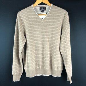 Black Brown 1826 Cashmere Tan Striped Sweater
